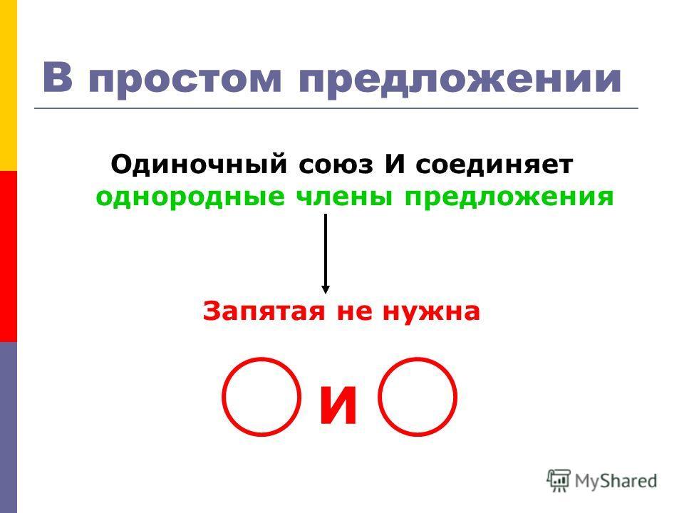В простом предложении Одиночный союз И соединяет однородные члены предложения Запятая не нужна И