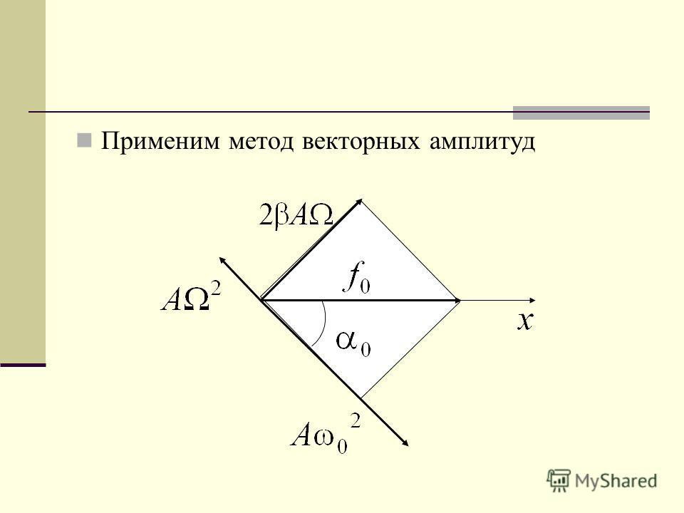 Применим метод векторных амплитуд