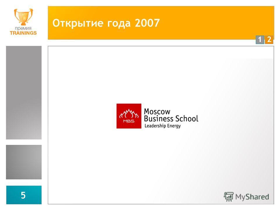 12 5 Открытие года 2007