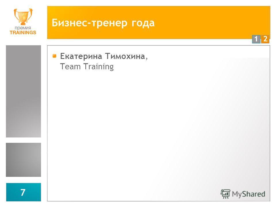12 7 Бизнес-тренер года Екатерина Тимохина, Team Training