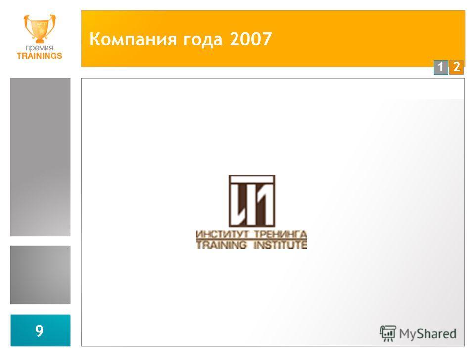 12 9 Компания года 2007