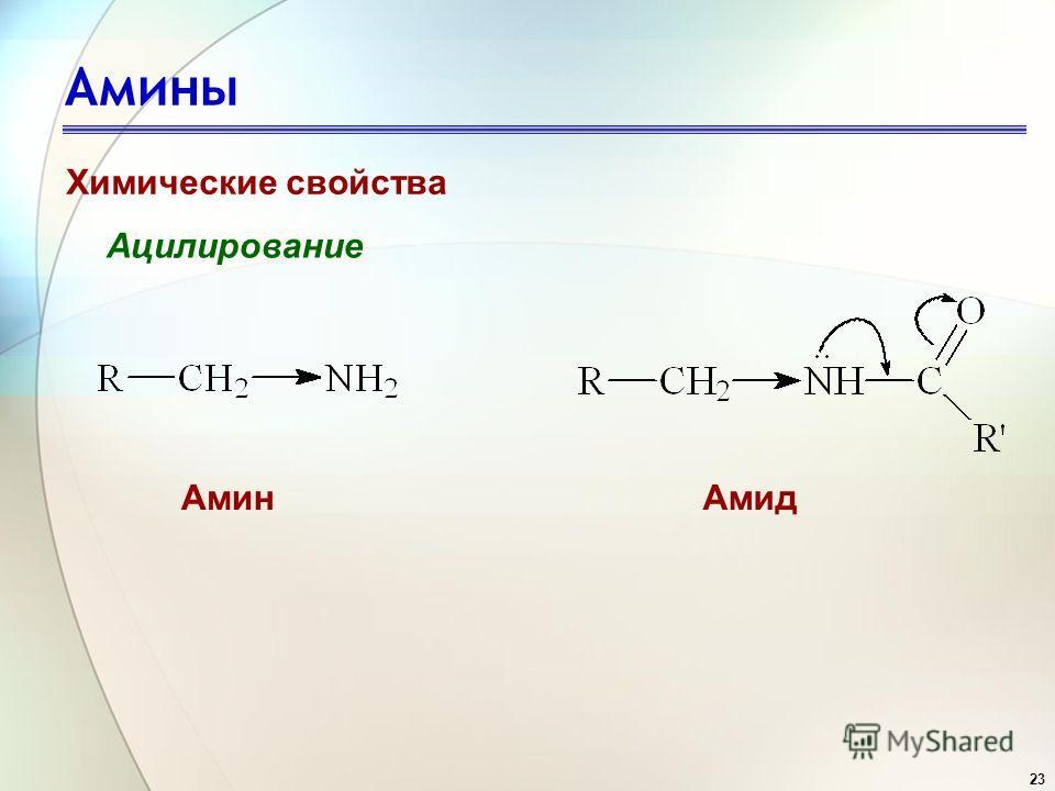 23 Амины Химические свойства Ацилирование АминАмид