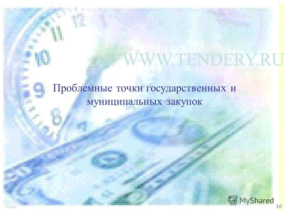 Проблемные точки государственных и муниципальных закупок 10