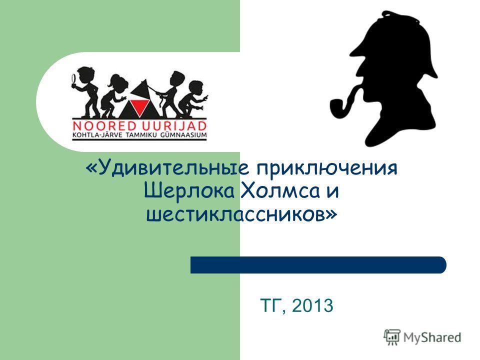 «Удивительные приключения Шерлока Холмса и шестиклассников» ТГ, 2013