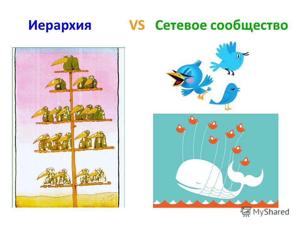 Иерархия VS Сетевое сообщество