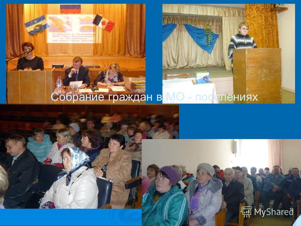 Собрание граждан в МО - поселениях