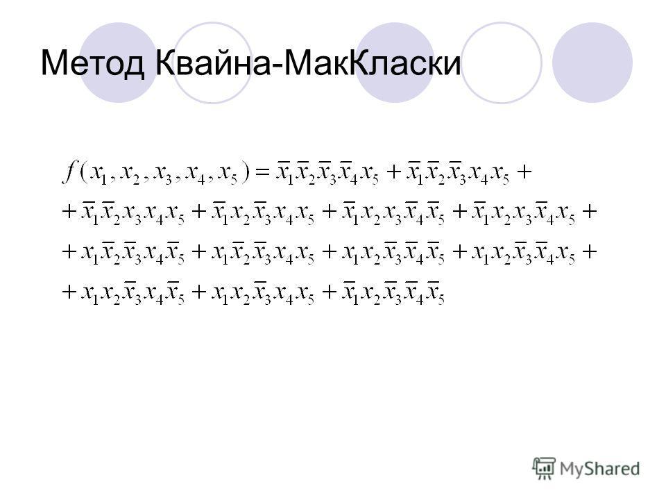 Метод Квайна-МакКласки