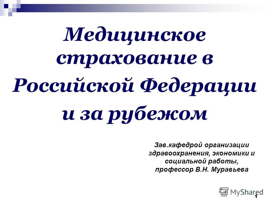 Презентация на тему Медицинское страхование в Российской  1 11 Медицинское страхование