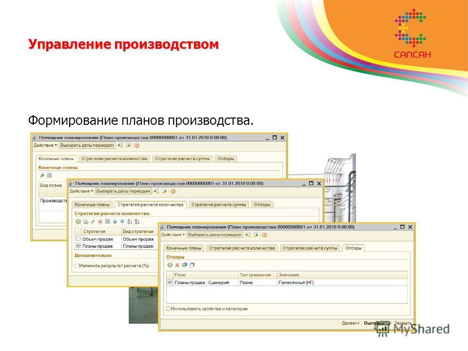 Управление производством Формирование планов производства.