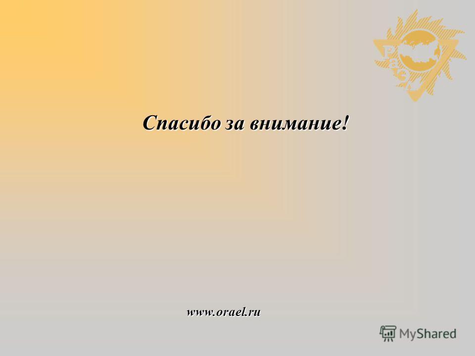 Спасибо за внимание! www.orael.ru