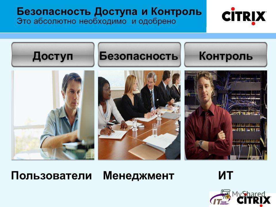 Доступ Пользователи Безопасность Менеджмент Контроль ИТ Безопасность Доступа и Контроль Это абсолютно необходимо и одобрено