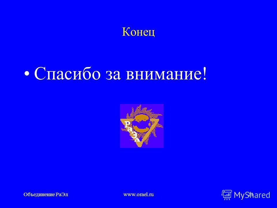 Объединение РаЭлwww.orael.ru20 Перспективы Итоги 2005 г. подтверждают готовность Объединения РаЭл к дальнейшему выстраиванию системы позитивных отношений с органами власти в целях обеспечения устойчивого развития организаций электроэнергетики, повыше