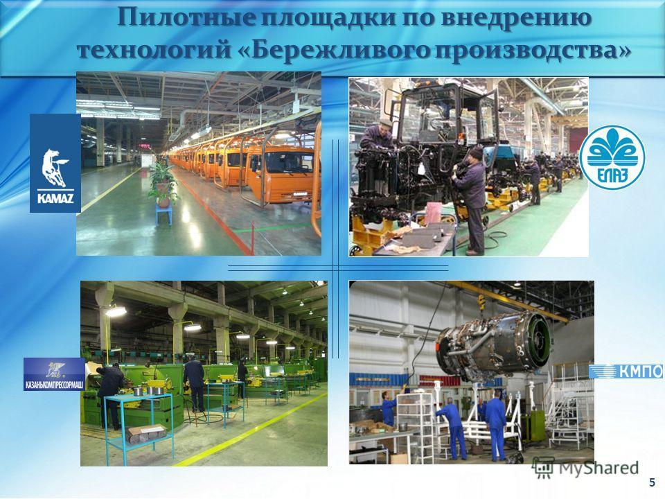 Пилотные площадки по внедрению технологий «Бережливого производства» 5