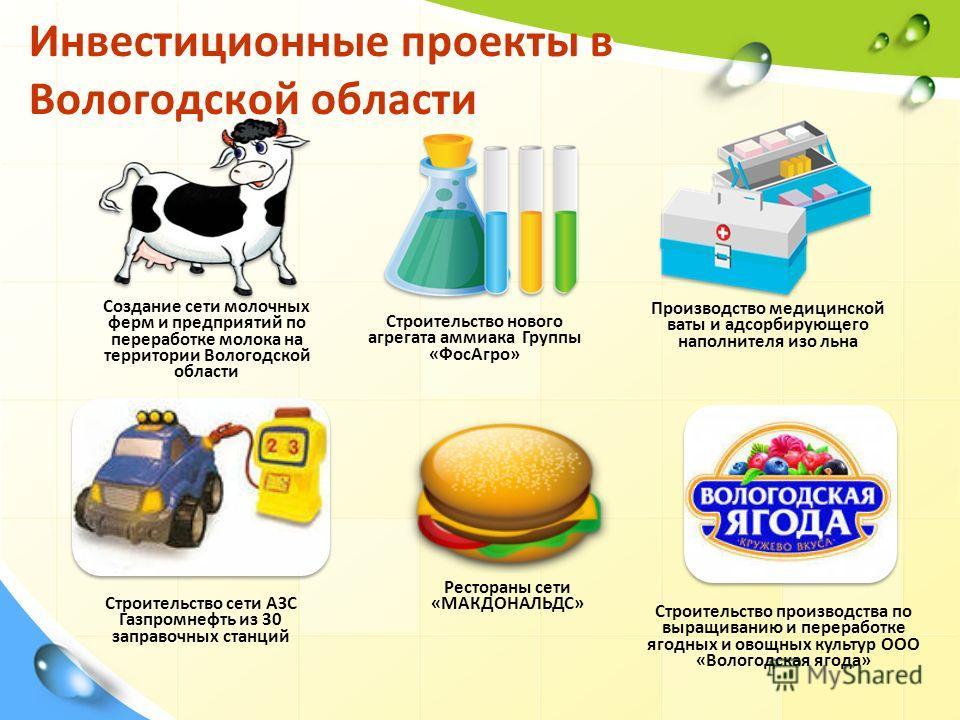 Инвестиционные проекты в Вологодской области