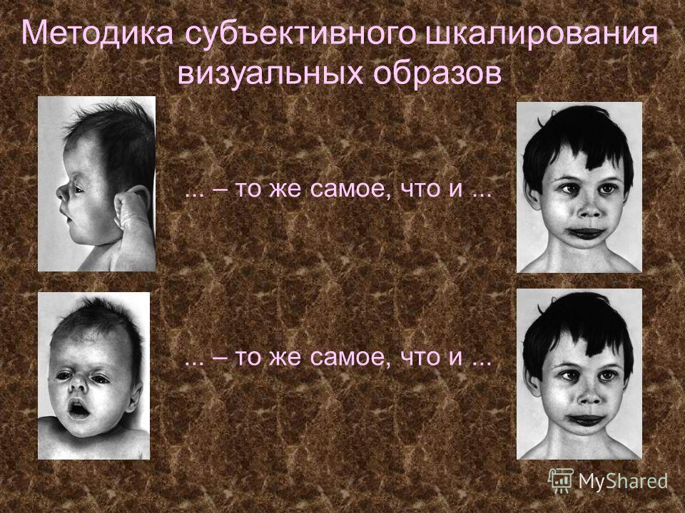 Методика субъективного шкалирования визуальных образов... – то же самое, что и...