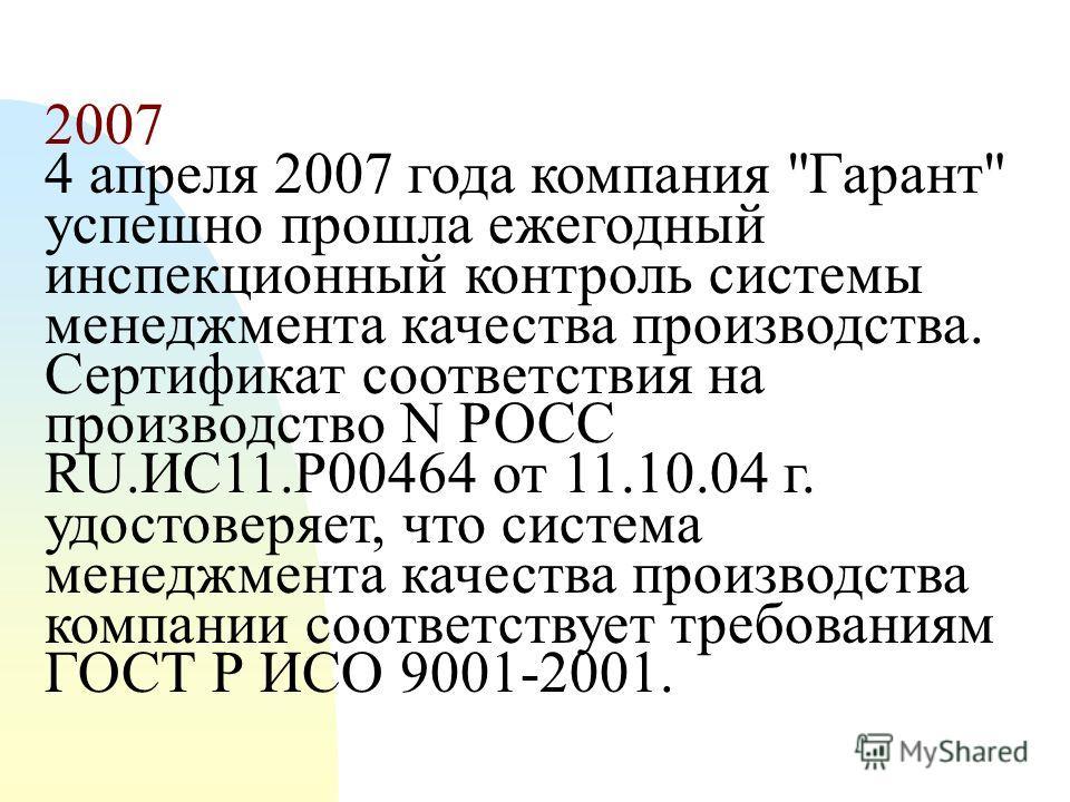 2004 Компания