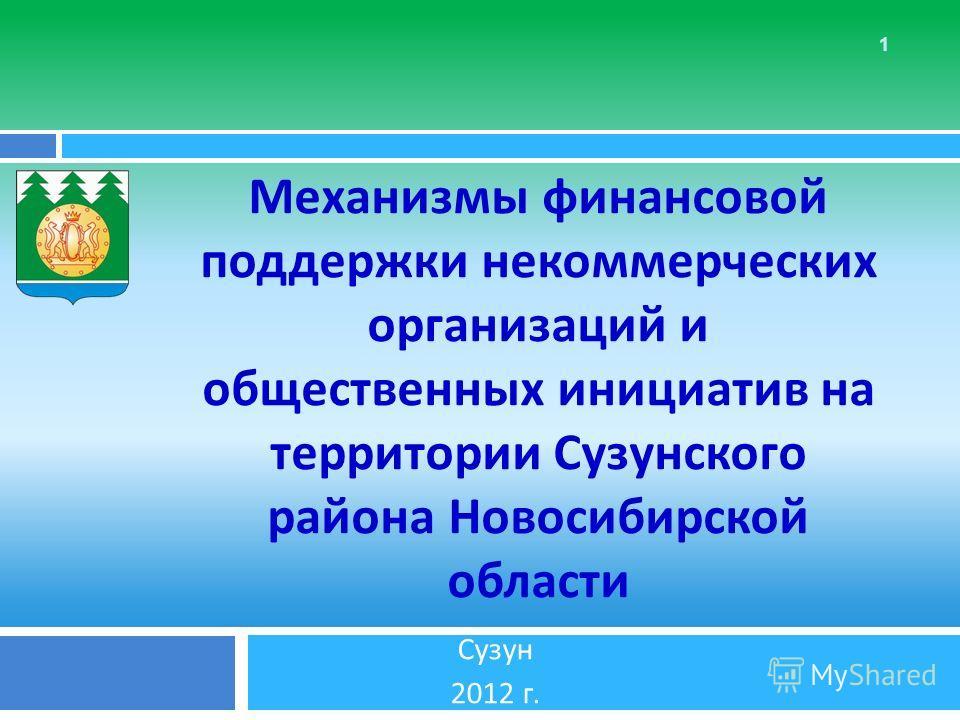 1 Механизмы финансовой поддержки некоммерческих организаций и общественных инициатив на территории Сузунского района Новосибирской области Сузун 2012 г.