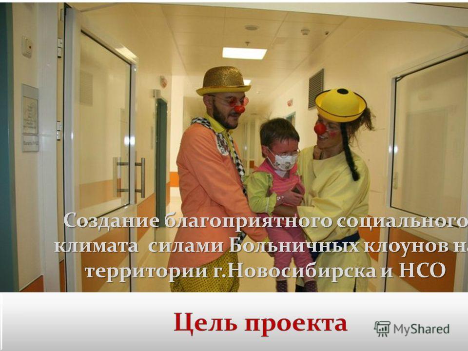 Создание благоприятного социального климата силами Больничных клоунов на территории г.Новосибирска и НСО