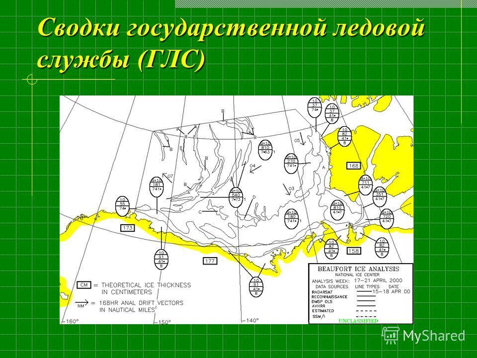 Сводки государственной ледовой службы (ГЛС)