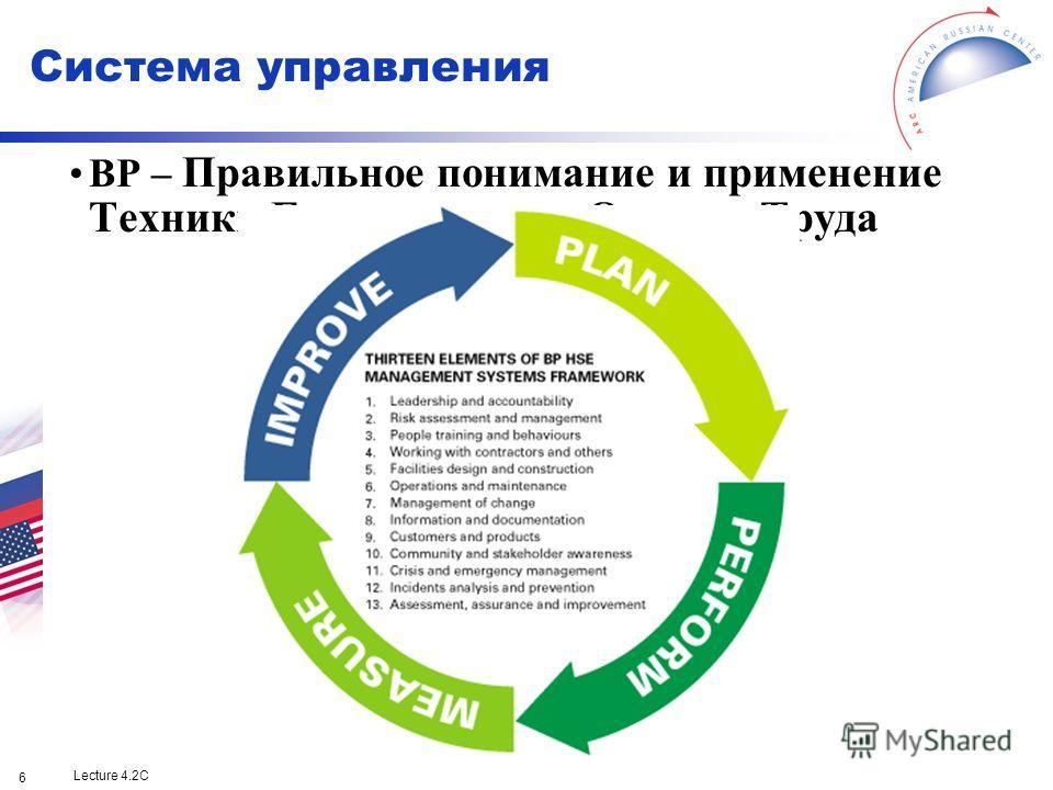 Lecture 4.2C 6 BP – Правильное понимание и применение Техники Безопасности и Охраны Труда Система управления
