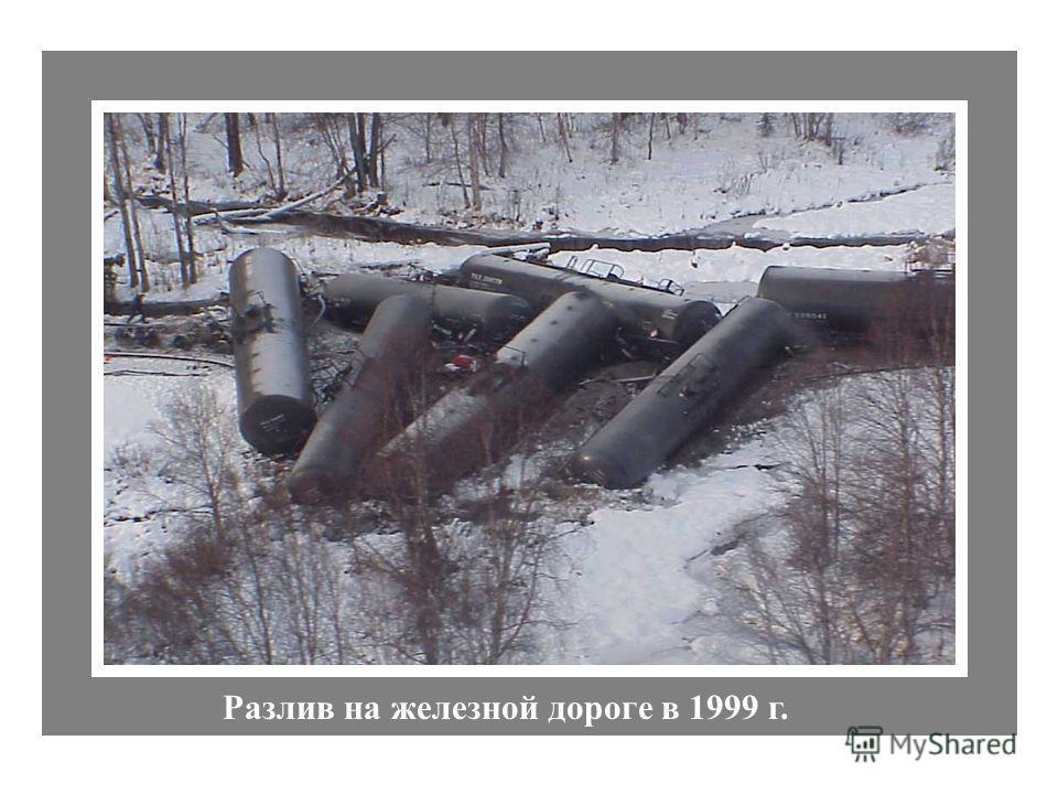 Разлив на железной дороге в 1999 г.