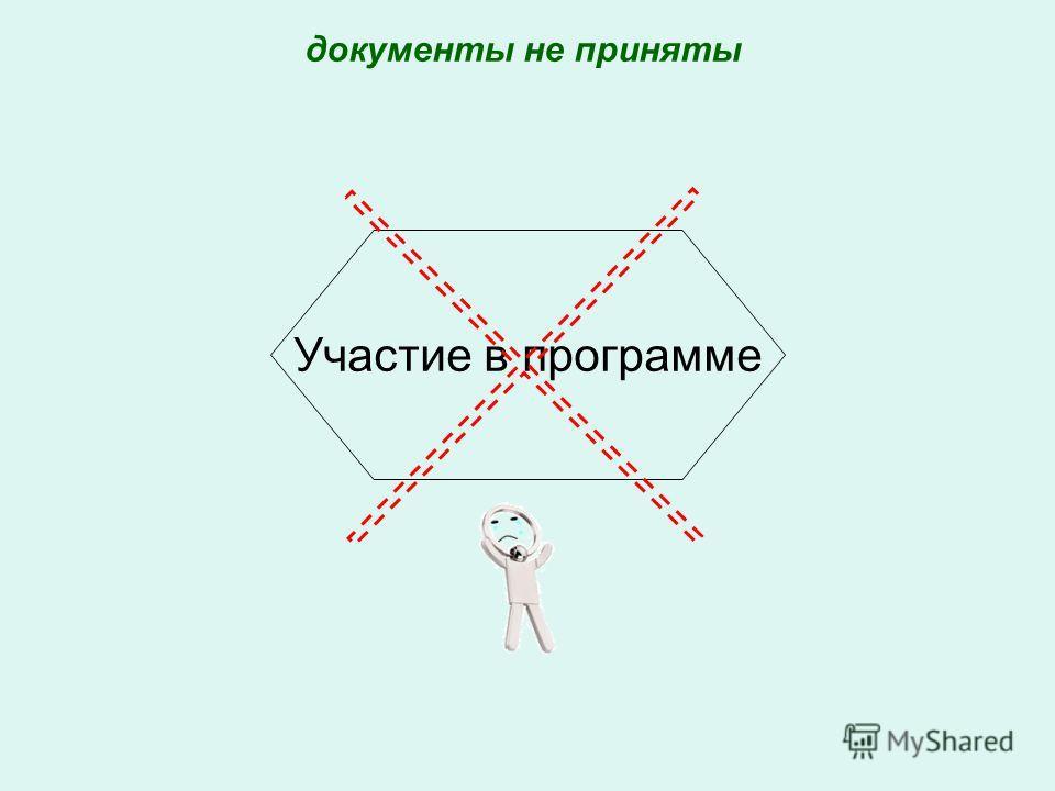 Участие в программе документы не приняты
