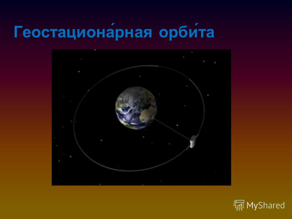 Геостациона́рная орби́та