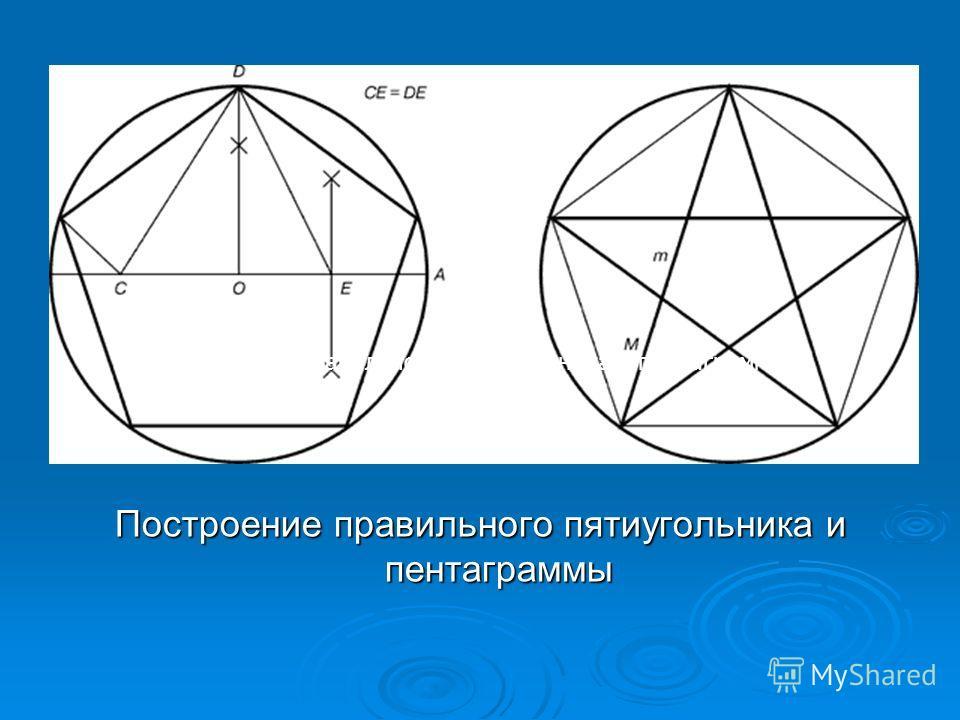 Построение правильного пятиугольника и пентаграммы
