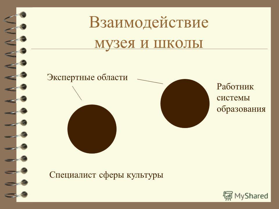 Взаимодействие музея и школы Экспертные области Специалист сферы культуры Работник системы образования