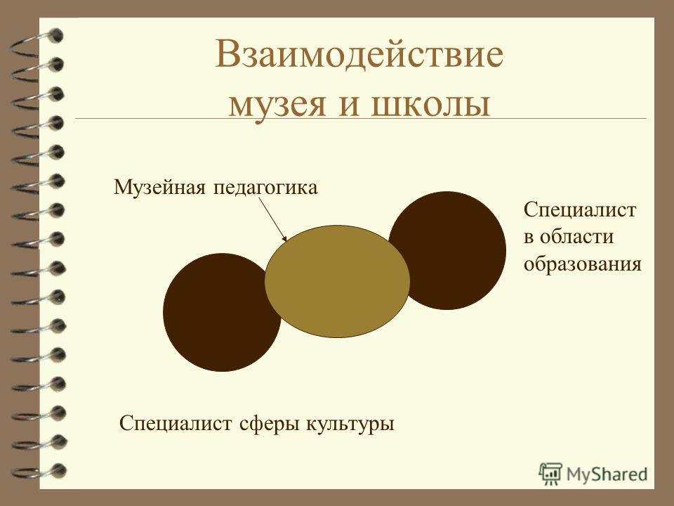 Взаимодействие музея и школы Музейная педагогика Специалист в области образования Специалист сферы культуры