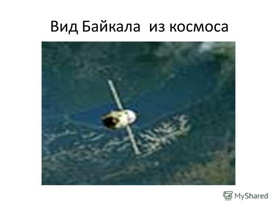 Вид Байкала из космоса