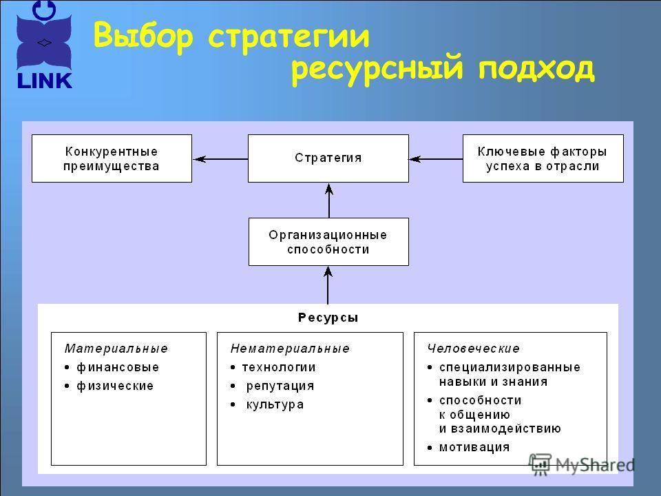 Выбор стратегии ресурсный подход