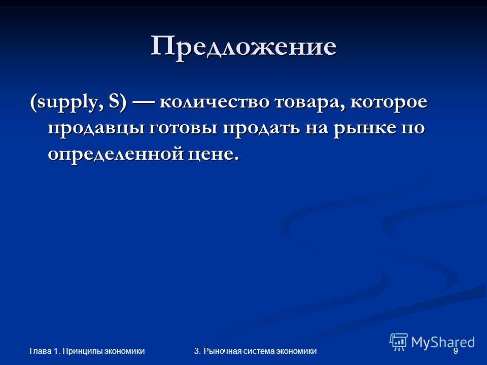 Глава 1. Принципы экономики 83. Рыночная система экономики Изменение функции спроса P Q D1D1 D Рост спроса
