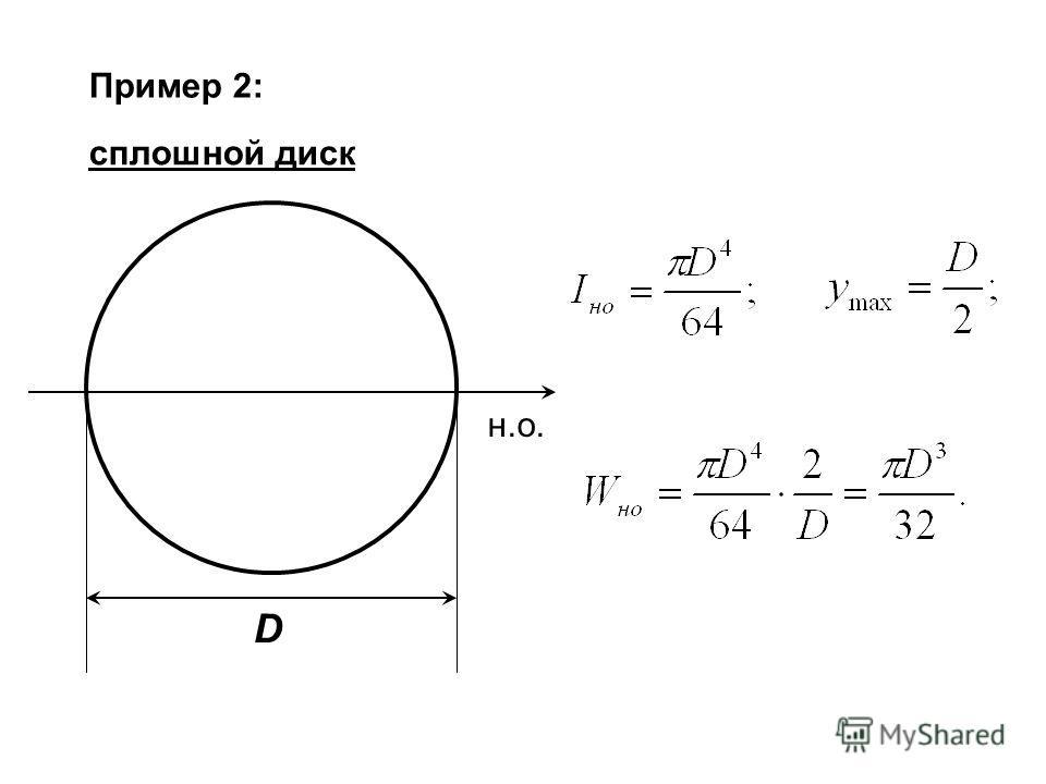 Пример 2: сплошной диск н.о. D
