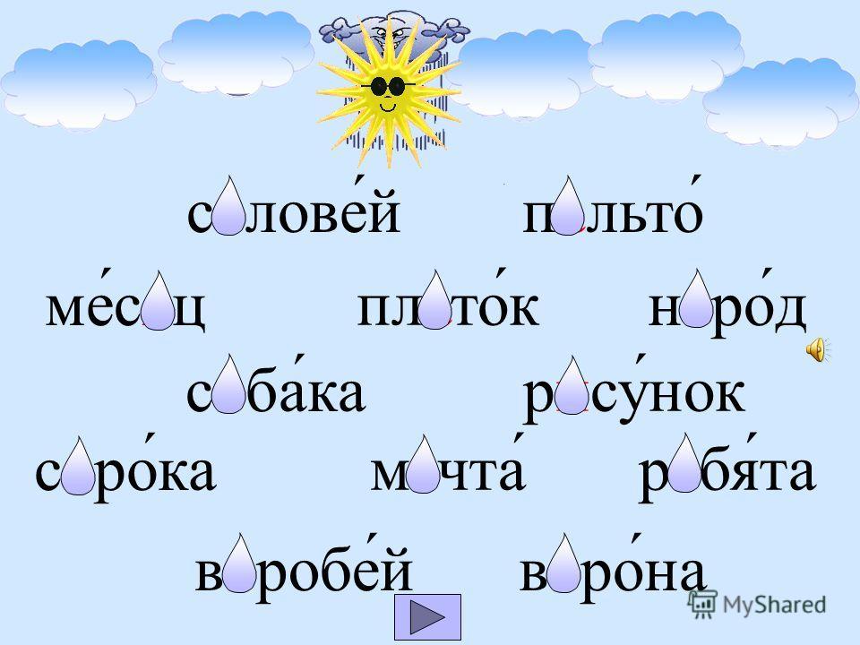 Высуши капельки Русский язык Тренажёр