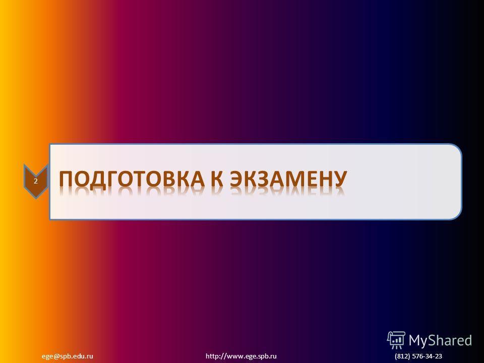 ege@spb.edu.ru http://www.ege.spb.ru (812) 576-34-23 2