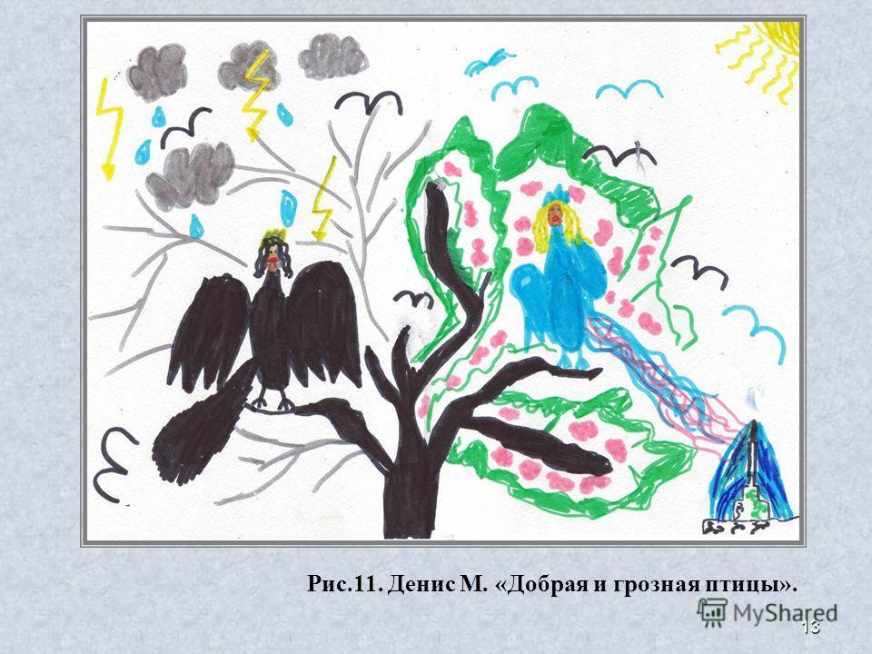 13 Рис.11. Денис М. «Добрая и грозная птицы».