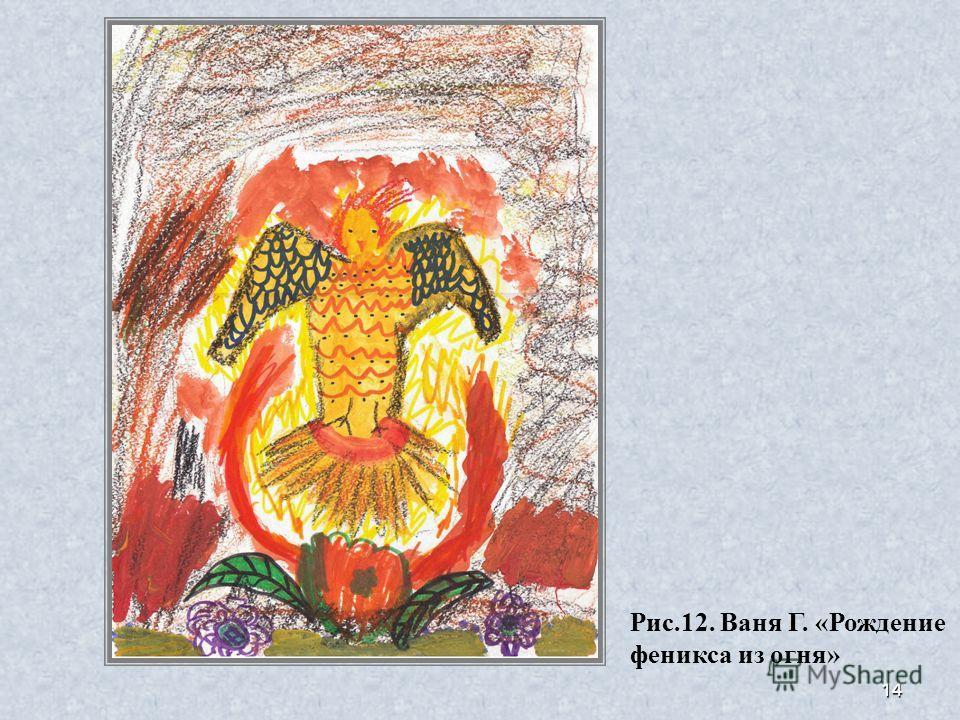 14 Рис.12. Ваня Г. «Рождение феникса из огня»