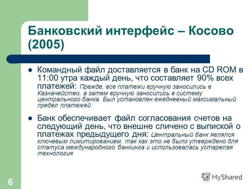 Министерство финансов и экономики / Центральное казначейство Министерства Процессинговый поток трансакций правительства Косово – Внедрение Казначейской системы (2005) Государственные агентства Государственные агентства Региональное казначейство Регио