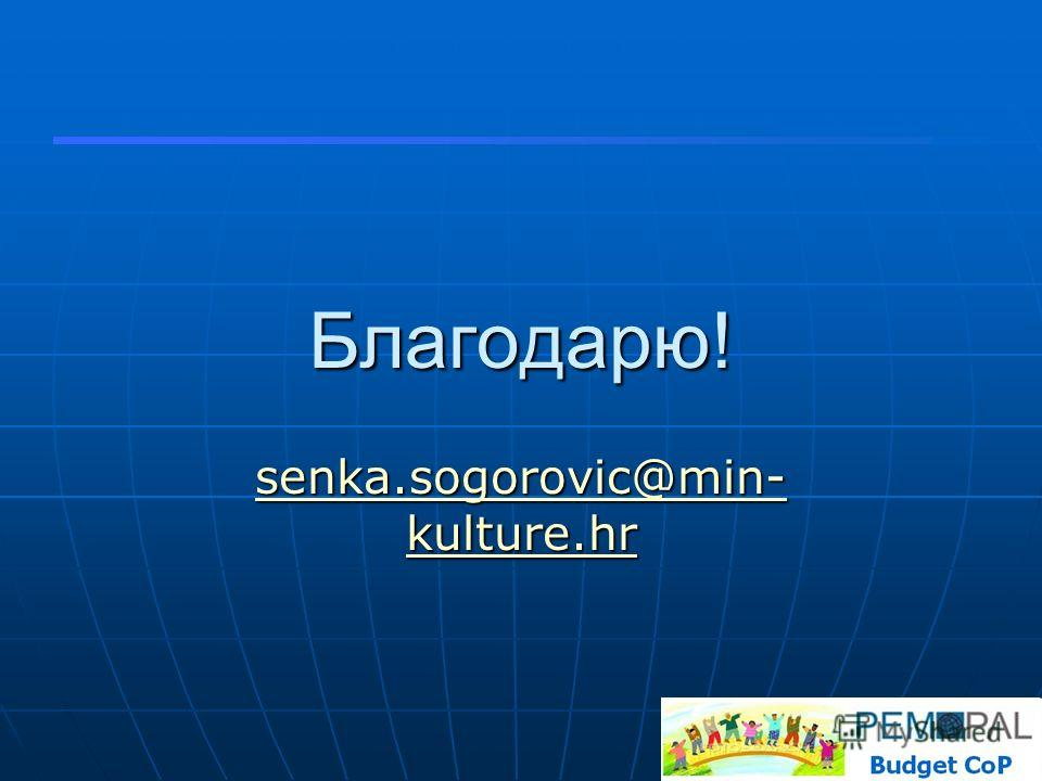 Благодарю! senka.sogorovic@min- kulture.hr senka.sogorovic@min- kulture.hr