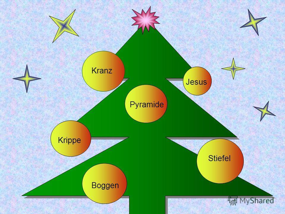 Jesus Pyramide Krippe Boggen Stiefel Kranz