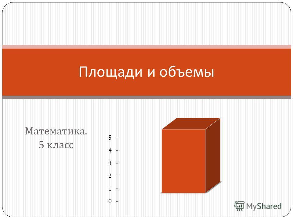 Математика. 5 класс Площади и объемы
