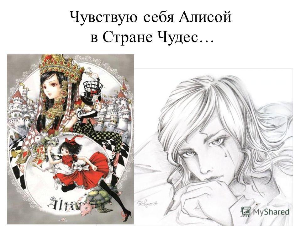 Чувствую себя Алисой в Стране Чудес…