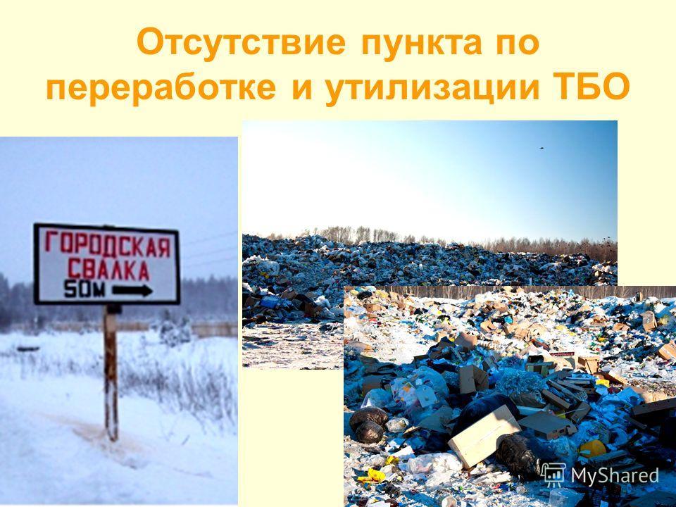 Отсутствие пункта по переработке и утилизации ТБО