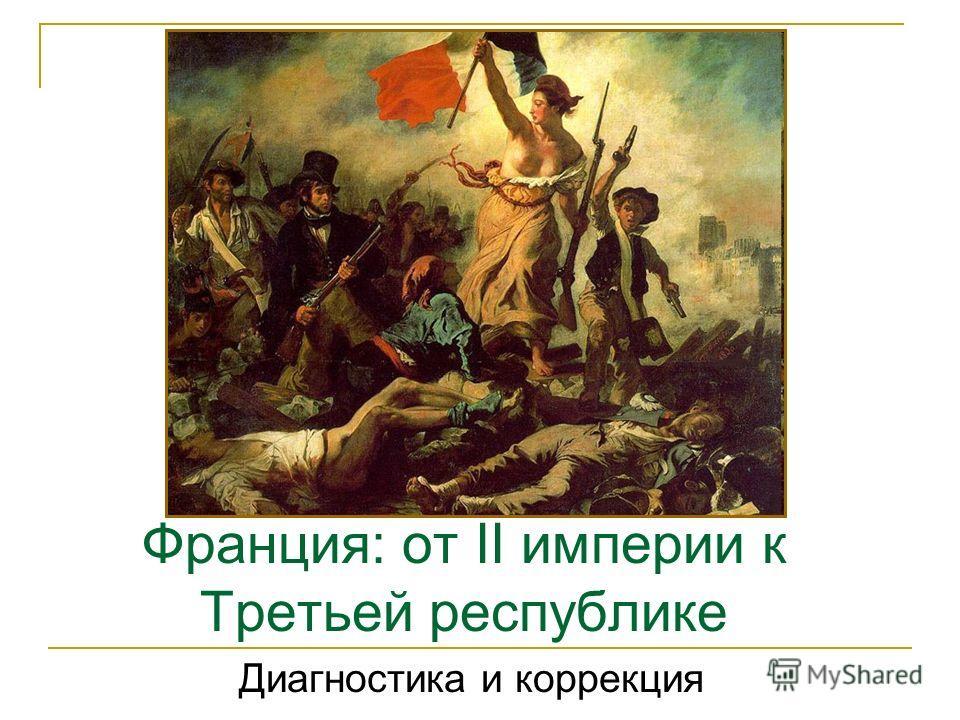Франция: от II империи к Третьей республике Диагностика и коррекция