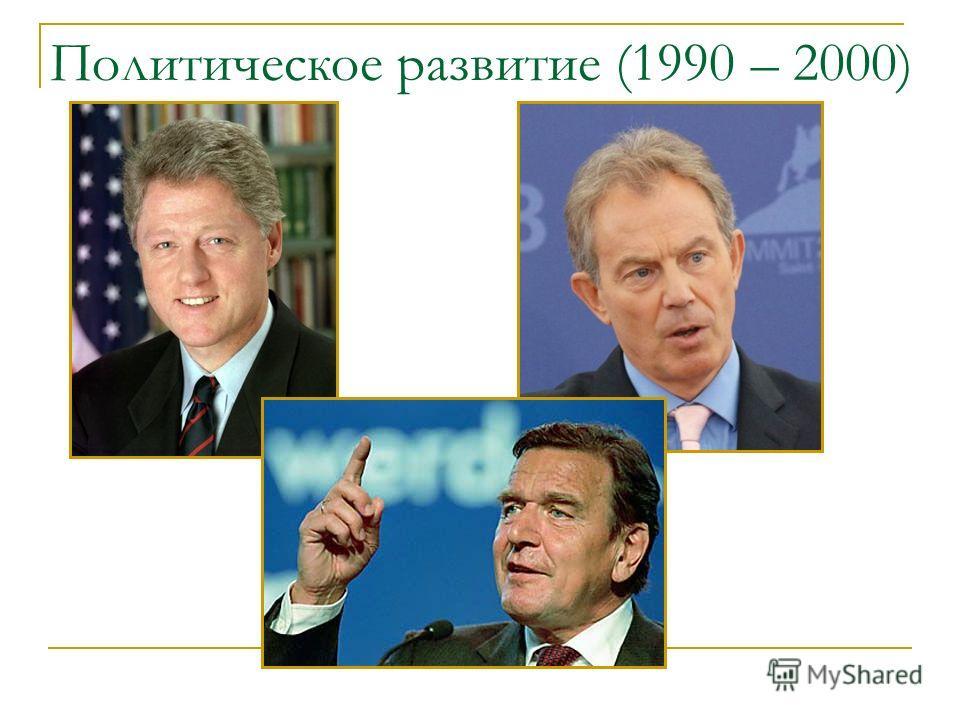 Политическое развитие (1990 – 2000)