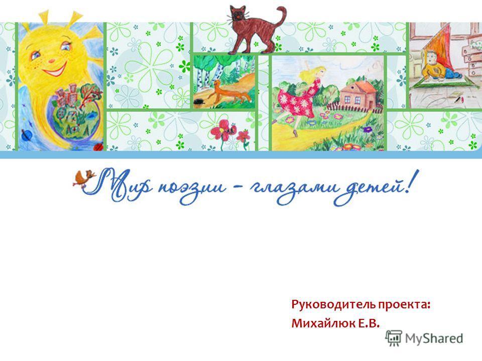 Руководитель проекта: Михайлюк Е.В.