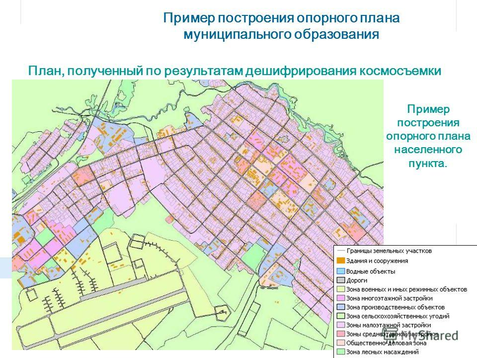 Пример построения опорного плана населенного пункта. Пример построения опорного плана муниципального образования План, полученный по результатам дешифрирования космосъемки