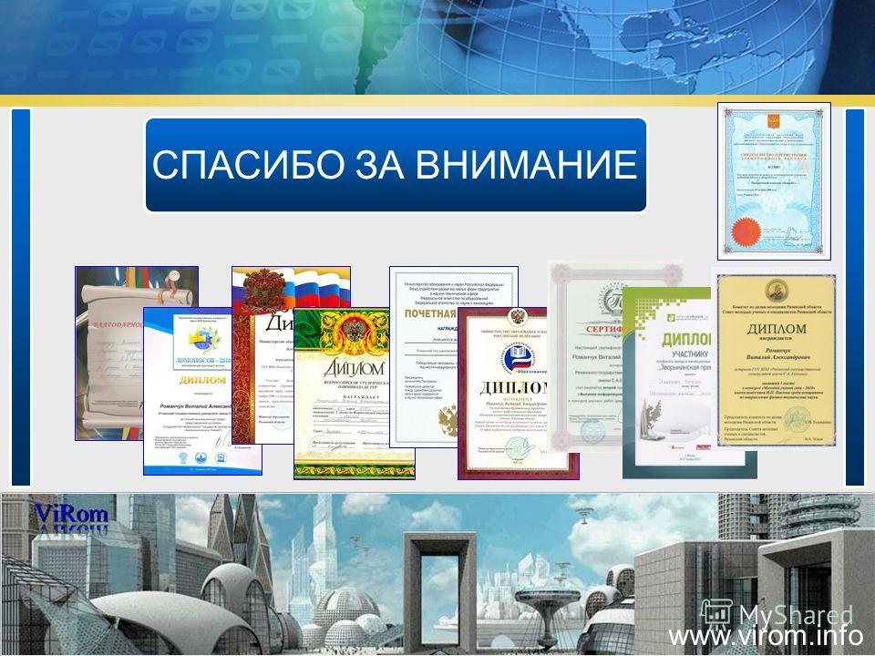 СПАСИБО ЗА ВНИМАНИЕ www.virom.info