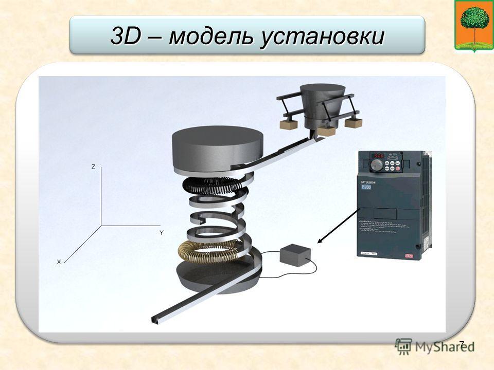 7 3D – модель установки